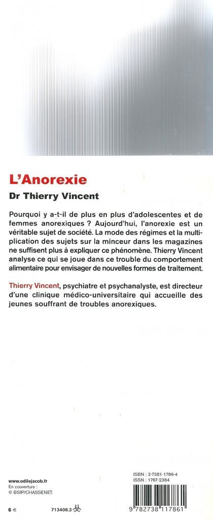 L'anorexie verso